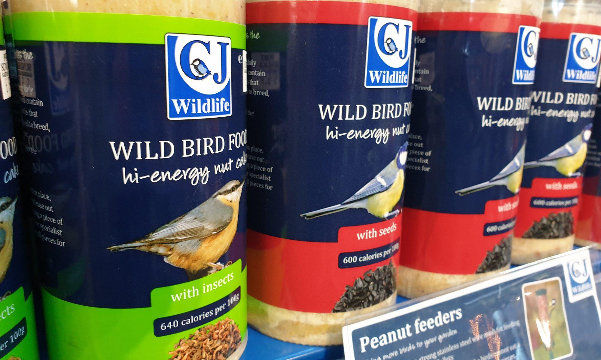Hi energy food for wild birds
